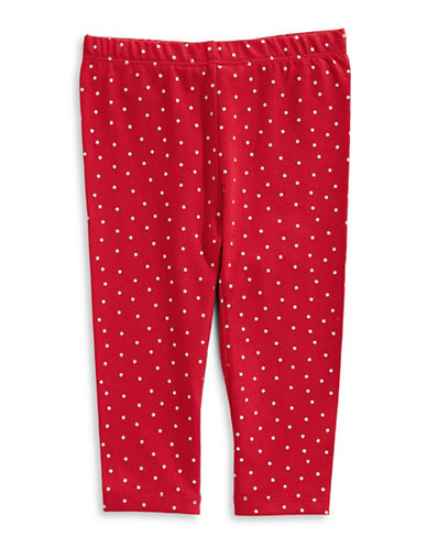 First Impressions Stargazer Polka Dot Leggings-TANGO RED-24 Months