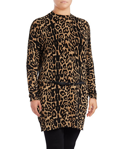 I.N.C International Concepts Plus Animal Print Tunic-LEOPARD-2X