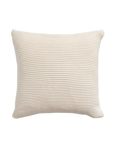 Hotel Collection Textured Cotton Cushion-BEIGE-One Size