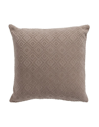 Hotel Collection Embroidered Cotton Cushion-BEIGE-18x18