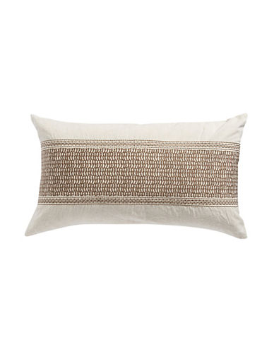 Hotel Collection Embroidered Linen Cushion-BEIGE-One Size