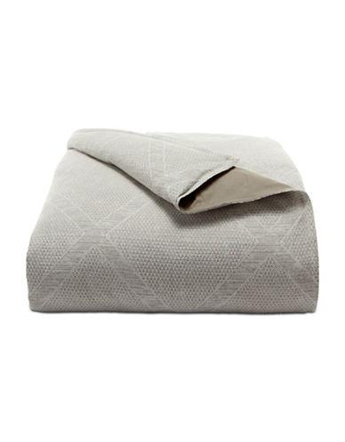 Hotel Collection Textured Cotton Duvet Cover-BEIGE-Queen