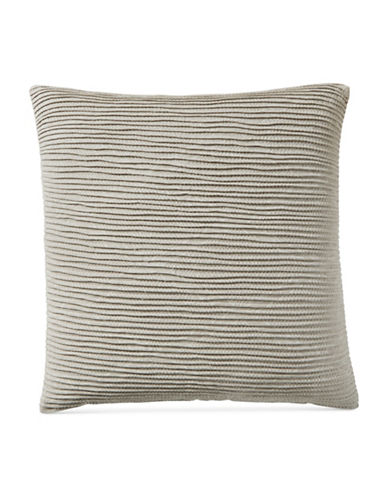 Hotel Collection Textured Cotton Sham-BEIGE-European