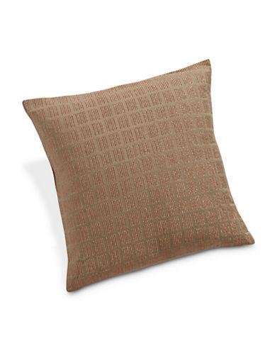 Calvin Klein Prairie Windowpane Metallic Bar Cushion-HEMP-One Size