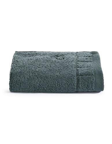 Calvin Klein Sculpted Grid Cotton Washcloth-BREAKWATER-Washcloth