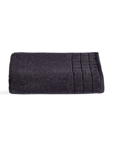 Calvin Klein Sculpted Grid Cotton Bath Towel-MIDNIGHT-Bath Towel