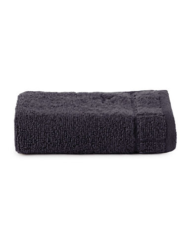 Calvin Klein Sculpted Grid Cotton Washcloth-MIDNIGHT-Washcloth