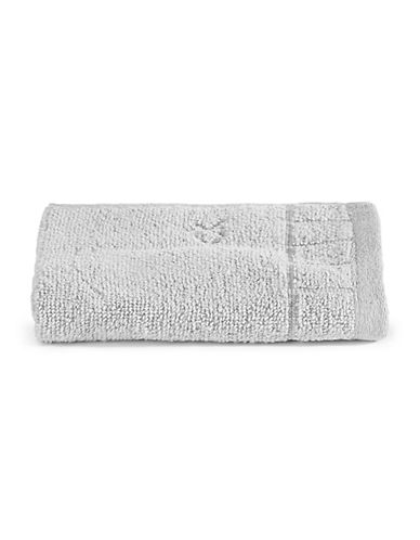 Calvin Klein Sculpted Grid Cotton Washcloth-PEBBLE-Washcloth