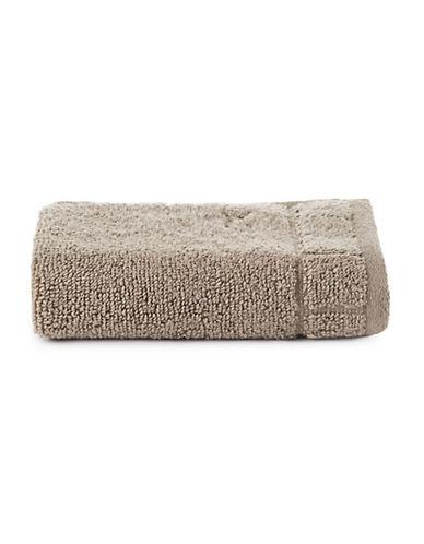 Calvin Klein Sculpted Grid Cotton Washcloth-TRUFFLE-Washcloth