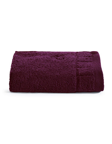 Calvin Klein Sculpted Grid Cotton Washcloth-WINE-Washcloth
