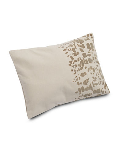 Calvin Klein Gazelle Flocked Texture Pillow-WHITE-One Size