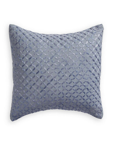 Calvin Klein Petal Embroidered Cushion-BLUE-One Size
