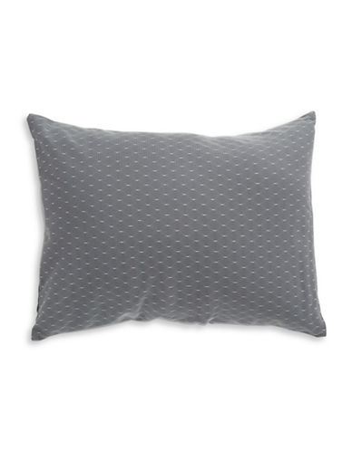 Calvin Klein Mesh Overlay Accent Pillow-GREY-One Size