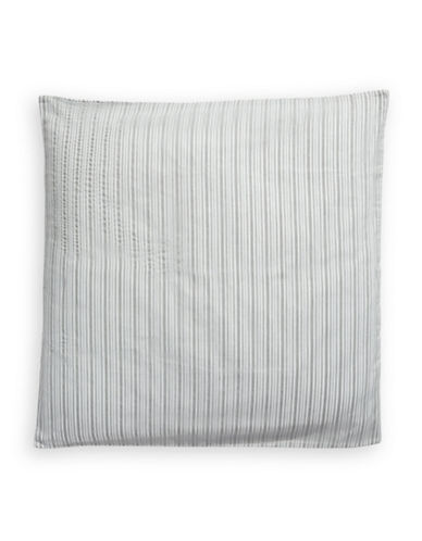 Calvin Klein Sheer Rows Pillow Sham-SILVER-European