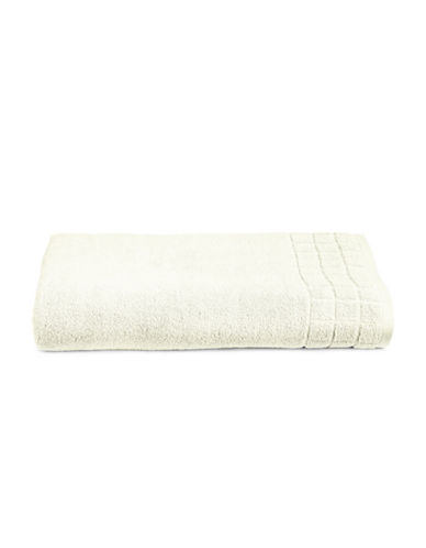 Calvin Klein Sculpted Grid Cotton Bath Sheet-CREAM-Bath Sheet