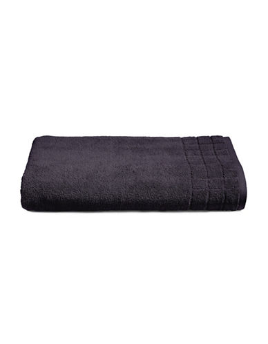 Calvin Klein Sculpted Grid Cotton Bath Sheet-MIDNIGHT-Bath Sheet