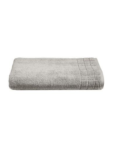 Calvin Klein Sculpted Grid Cotton Bath Sheet-PEBBLE-Bath Sheet