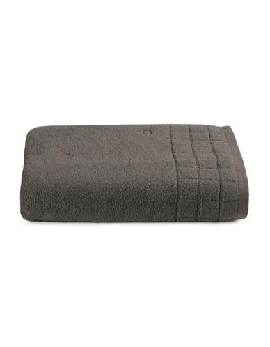Calvin Klein Sculpted Grid Cotton Bath Sheet-STORM-Bath Sheet