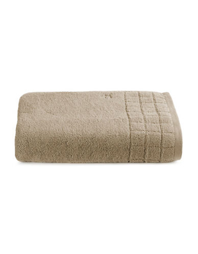 Calvin Klein Sculpted Grid Cotton Bath Sheet-TRUFFLE-Bath Sheet