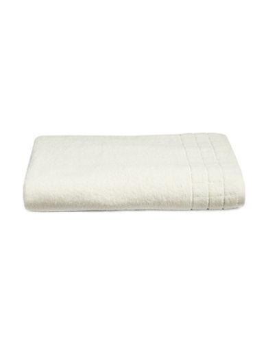 Calvin Klein Sculpted Grid Cotton Bath Sheet-WHITE-Bath Sheet