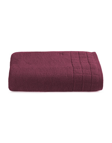Calvin Klein Sculpted Grid Cotton Bath Sheet-WINE-Bath Sheet