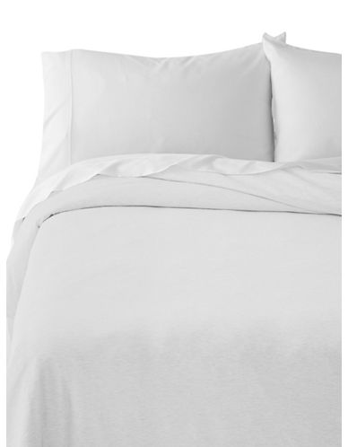 Calvin Klein Body Duvet Cover-WHITE-Queen