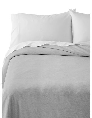 Calvin Klein Body Duvet Cover-GREY-Queen
