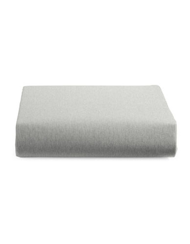 Calvin Klein Body Modern Cotton Fitted Sheet-GREY-Twin