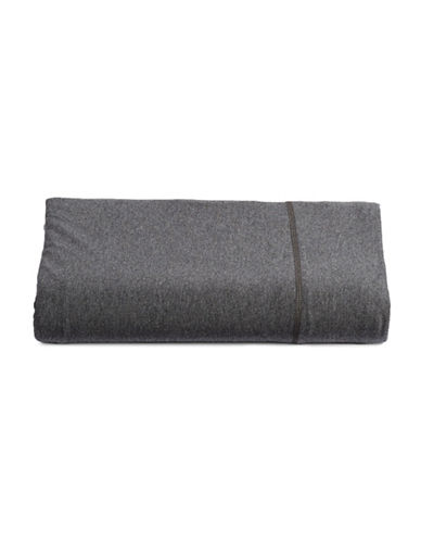 Calvin Klein Body Flat Sheet-DARK GREY-Twin
