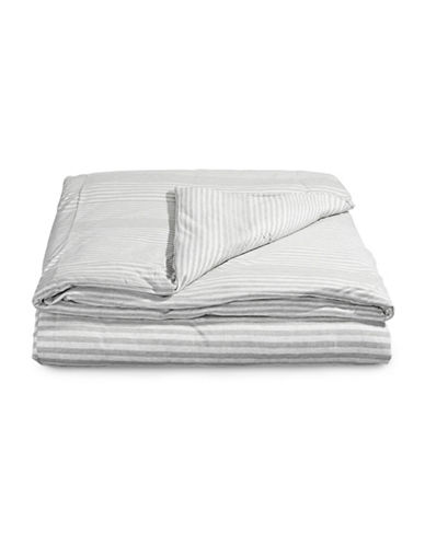 Calvin Klein Rhythm Modern Cotton Duvet Cover-GREY-Twin
