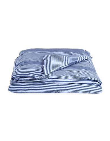 Calvin Klein Rhythm Modern Cotton Duvet Cover-BLUE-Twin