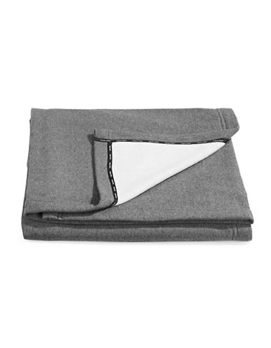 Calvin Klein Cropped Logo Throw-CHARCOAL-One Size
