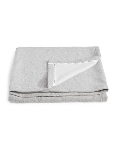 Calvin Klein Cropped Logo Throw-GREY-One Size