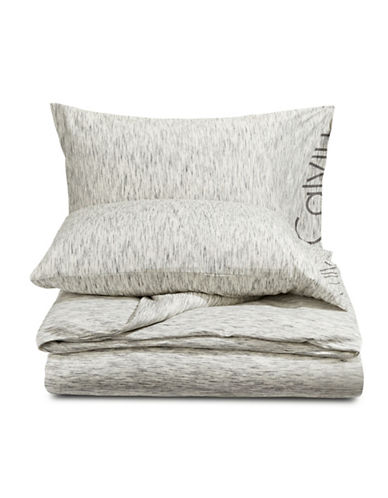 Calvin Klein Modern Cotton Strata Duvet Cover-GREY-King