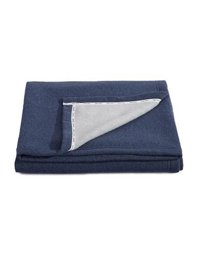 Calvin Klein Cropped Logo Throw-BLUE-One Size