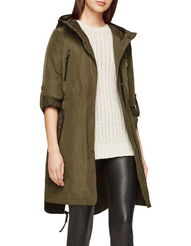 Bcbgmaxazria Margo Hooded Anorak Jacket-GREEN-X-Small 88895913_GREEN_X-Small