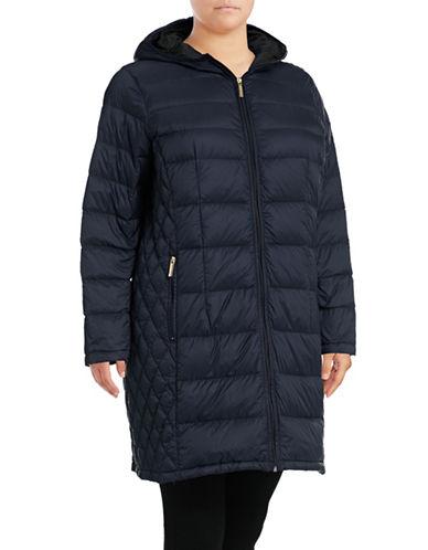 Michael Michael Kors Long Packable Down Jacket-DARK BLUE-1X