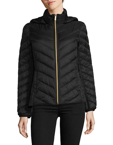 Michael Michael Kors Packable Down Jacket-BLACK-X-Small