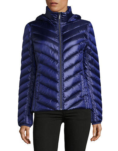 Michael Michael Kors Packable Down Jacket-SAPPHIRE-Small
