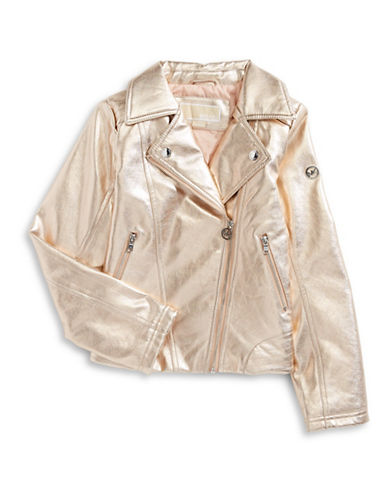 Michael Michael Kors Metallic Jacket-PINK-10-12