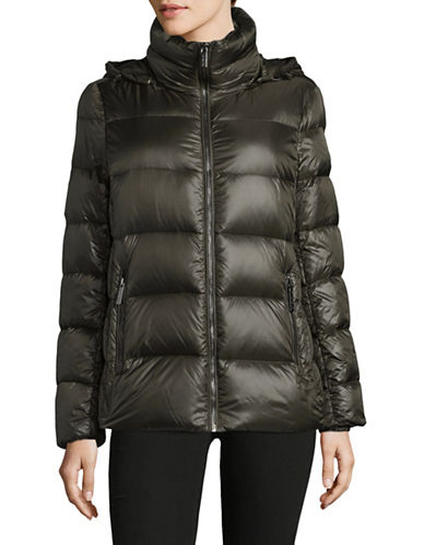 Michael Michael Kors Down Puffer Jacket-GREEN-Large