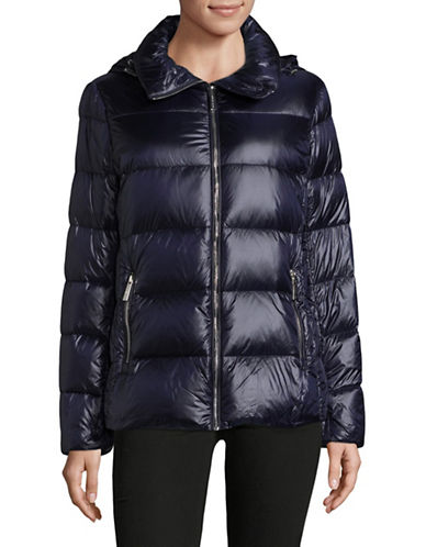 Michael Michael Kors Down Puffer Jacket-NAVY-Small