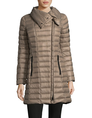 Michael Michael Kors Down Puffer Jacket-TAUPE-Small