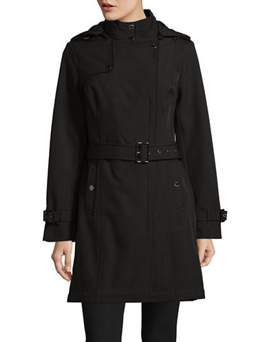 Michael Michael Kors Long Sleeve Coat-BLACK-X-Small