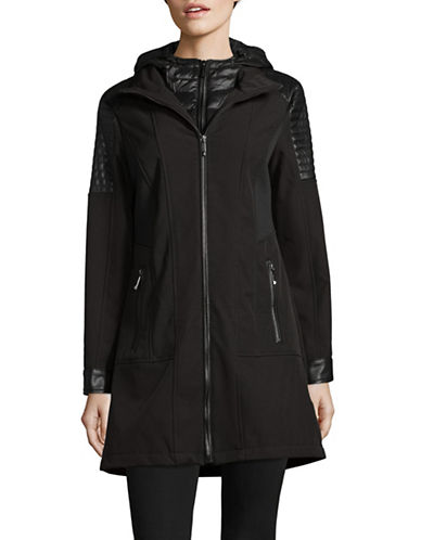 Michael Michael Kors Rain Down Jacket-BLACK-X-Large