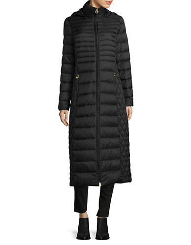 Michael Michael Kors Long Packable Jacket-BLACK-X-Small 89561207_BLACK_X-Small