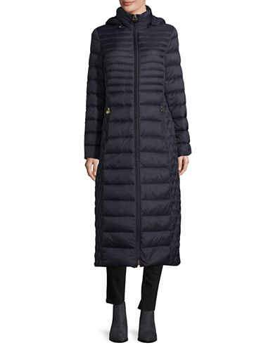 Michael Michael Kors Long Packable Jacket-NAVY-Medium