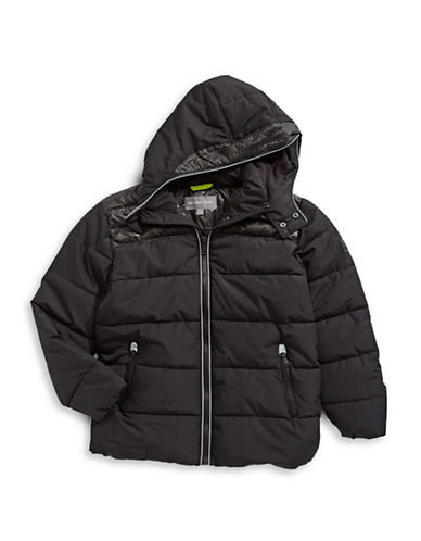 Michael Michael Kors Active Puffer Jacket-BLACK-10-12