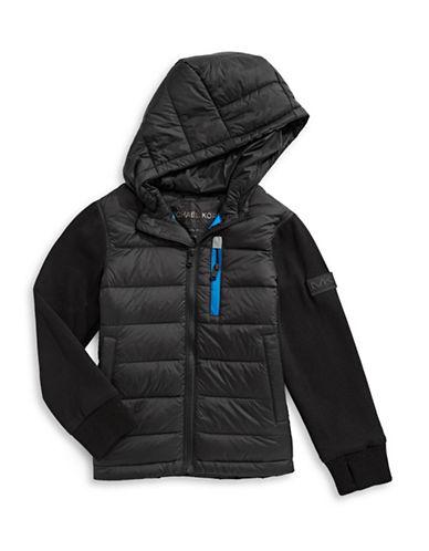 Michael Michael Kors Down-FIlled Puffer Coat-BLACK-5-6