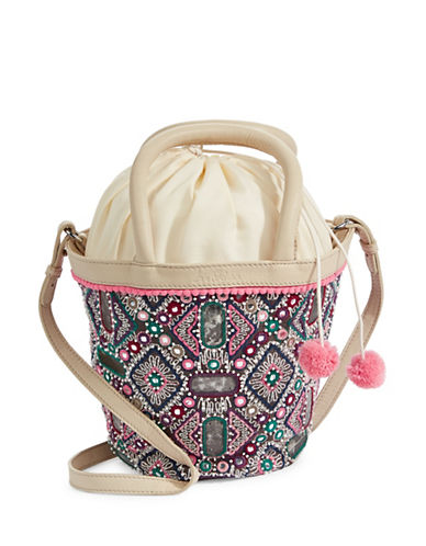 Sam Edelman Irene Pom-Pom Satchel Bag-MULTI-One Size